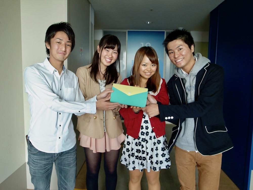 左から、武田悠太郎、米本理乃、小澤由帆、尾崎祐介